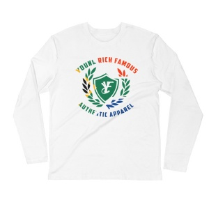 Young Rich Famous SA Long Sleeve Fitted Crew