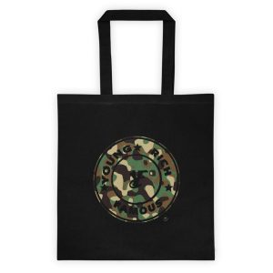 Young Rich Famous Camo Ladies Tote bag